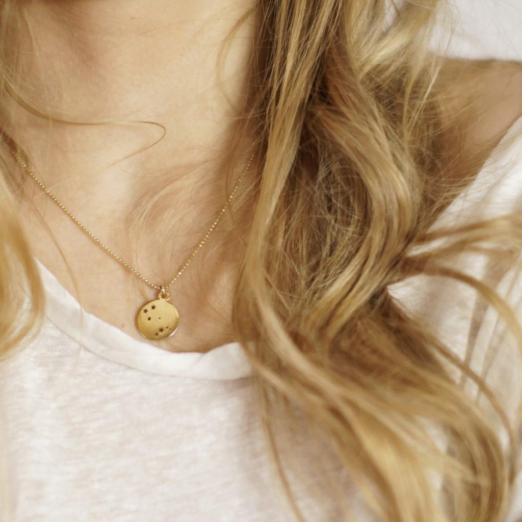 Artystyczna biżuteria - Mollie naszyjnik konstelacja